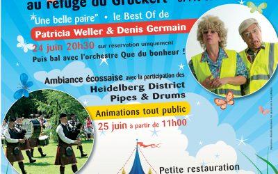 24 et 25 juin, au Gruckert : LA Fête à ne pas manquer ! (samedi soir : spectacle complet !)