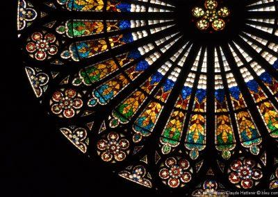 STRASBOURG Rosace de la Cathédrale ©bleu comm...